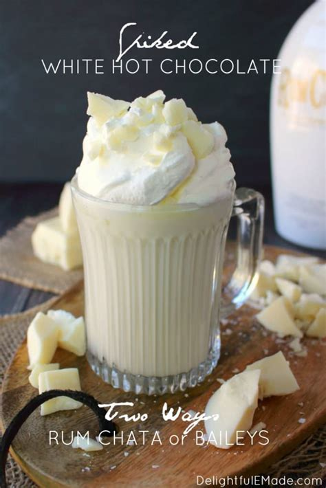 spiked white hot chocolate  ways delightful