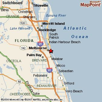 where is melbourne florida on the map melbourne florida