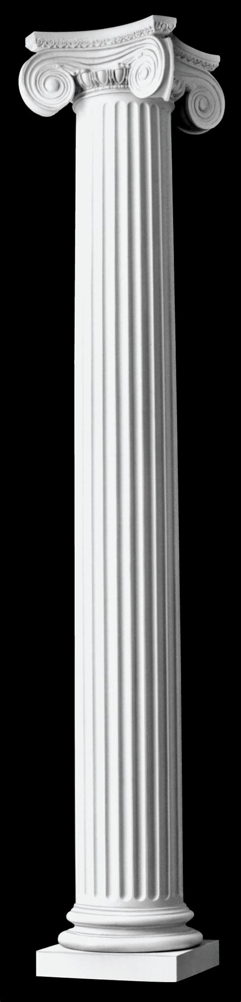 fluted architectural wood columns angular ionic design