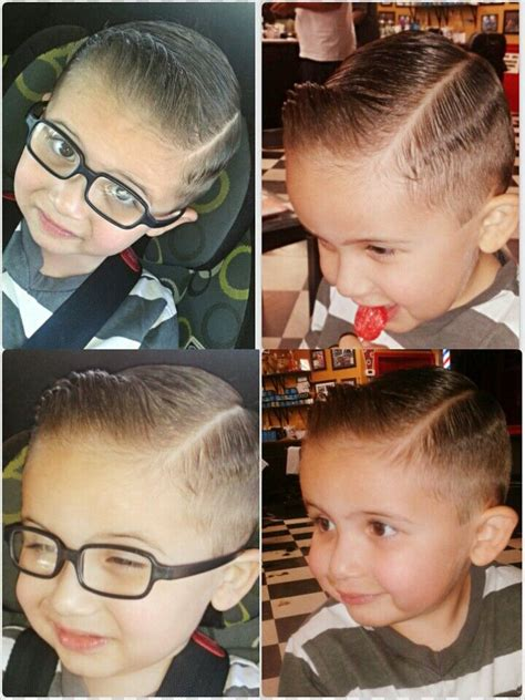 pompadour hairstylke kids toddler pompadour haircut and style my son branson