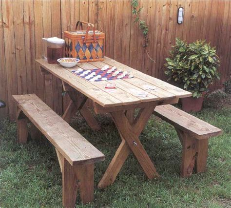 woodwork outdoor wood picnic table plans  plans
