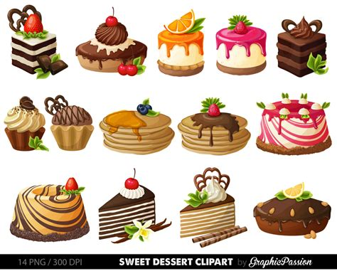 clipart dolci cake digital clipart pastry clip sweet treat cake clip