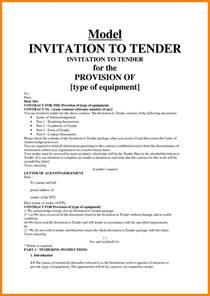 9 sample of invitation tender quote templates