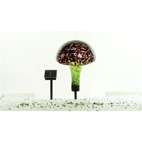 glass mushroom solar lights alpine solar glass mushroom with 16 led lights egg156slr