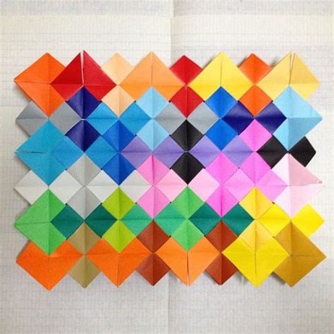 Dimensions Of Origami Paper - sudoko origami quilt i used 48 sheet of 15 15 cm square