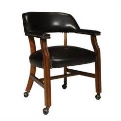 rockwood vinyl arm chair with casters in antique cherry