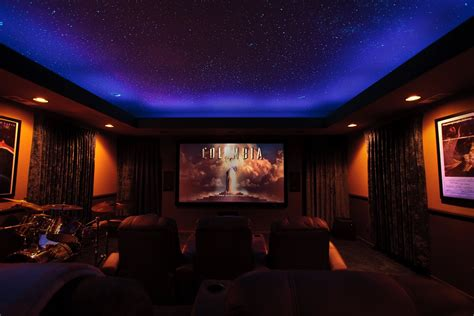 Home Theater Ceiling Lighting Theater Room Fiber Optic Ceiling Luxury