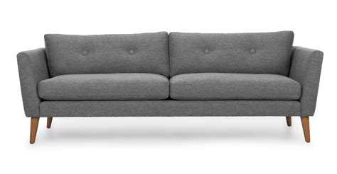 scandinavian couches emil gravel gray sofa sofas article modern mid century and scandinavian furniture