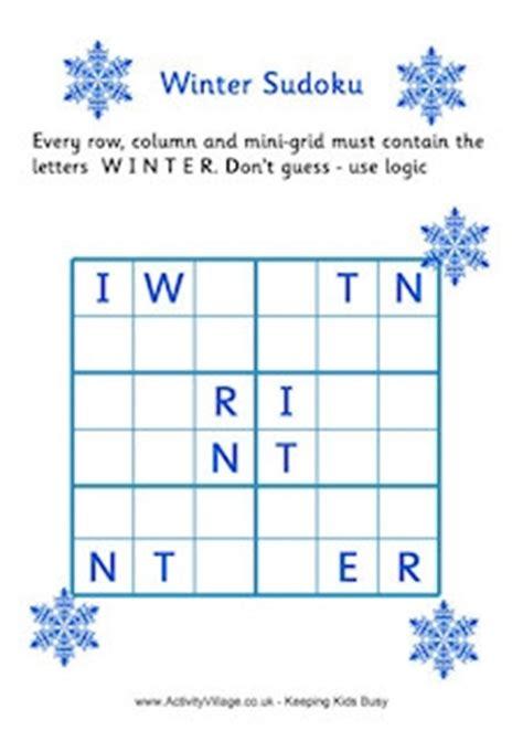 printable winter logic puzzles winter puzzles