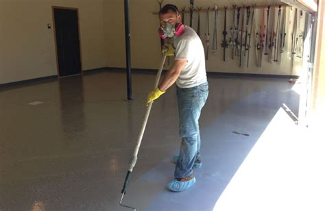 Garage Floor Paint Roller Diy Epoxy Garage Floor Tutorial How To Make Your Garage