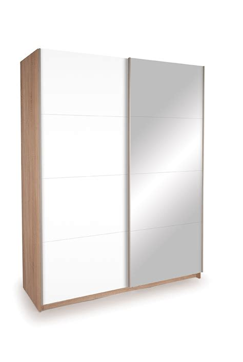 White Gloss Sliding Door Wardrobe by Dallas Oak Sliding Door Wardrobe Mirror High Gloss White