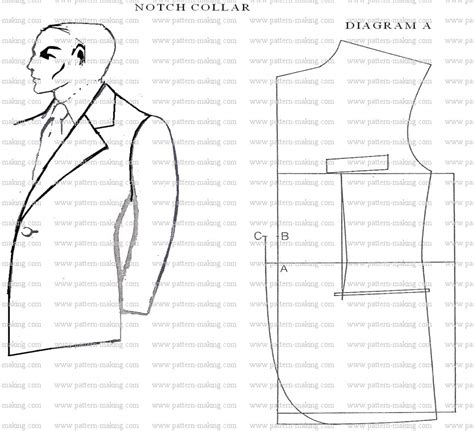 pattern drafting what is how to draft men notch collar pattern making com