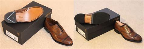 before and after allen edmonds fifth avenues with some diy vibram half soles diy shoes