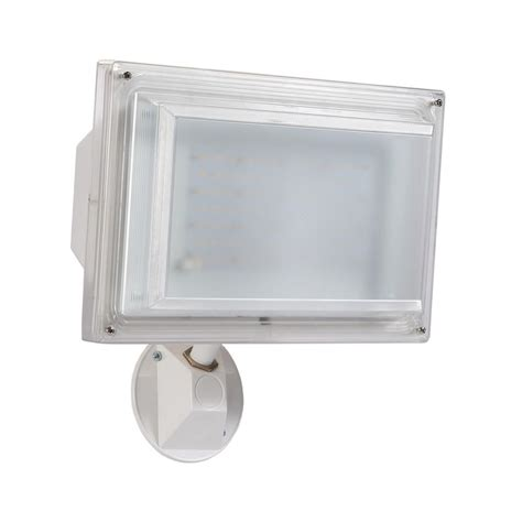 Led Outdoor Wall Pack Lighting Amax Lighting Fl55 White Outdoor Integrated Led Wall Pack