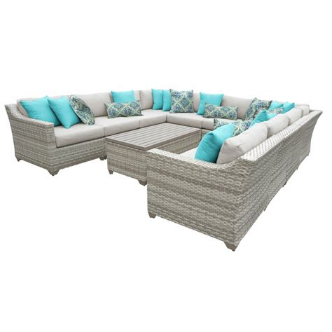 sol  outdoor falmouth  piece rattan sectional seating