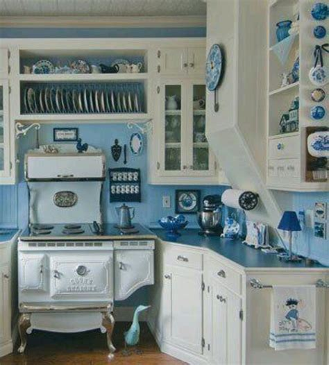 blue and white kitchen blue white country kitchen living in the country