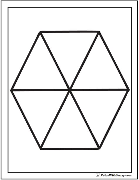 hexagon pattern worksheet shape coloring pages customize and print