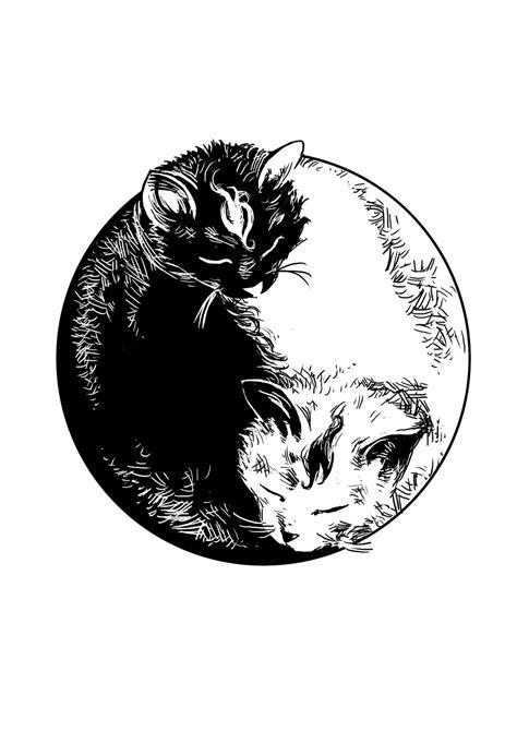 tattoo yin yang animal yin yang cats by steff00 on deviantart