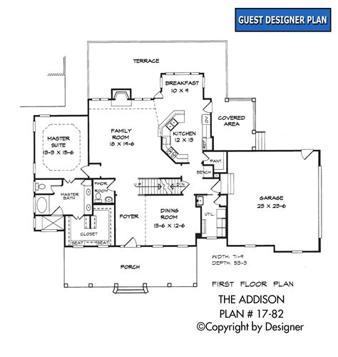 addison floor plan addison house plan house plans by garrell associates inc