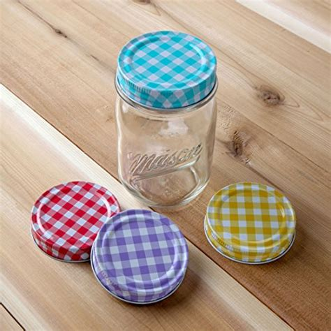 Decorative Canning Jar Lids by S Home 174 Decorative Canning Lids For Jars Assorted 4 Colors