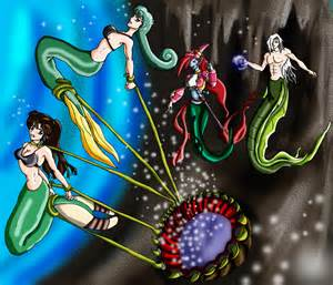 Mermaid failed escape by wing saber on deviantart