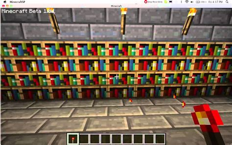minecraft secret bookshelf door