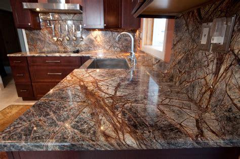 Rainforest Brown Granite Countertop rainforest brown granite kitchen in bowie md