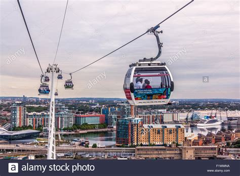 thames river valley cable emirates air line cable car crossing the river thames from