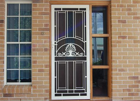 Glass Security Doors Security Doors In St Marys Penrith And Blue Mountains Areas Bright Aluminium And Glass