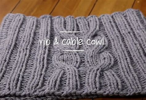 free knitted cowl patterns cables how to knit a rib cable cowl in 1 hour knitting