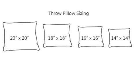 standard sofa pillow size standard size throw pillows desainrumahkeren com