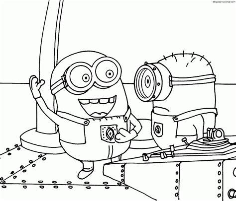 imagenes minions para colorear dibujos de minions para colorear