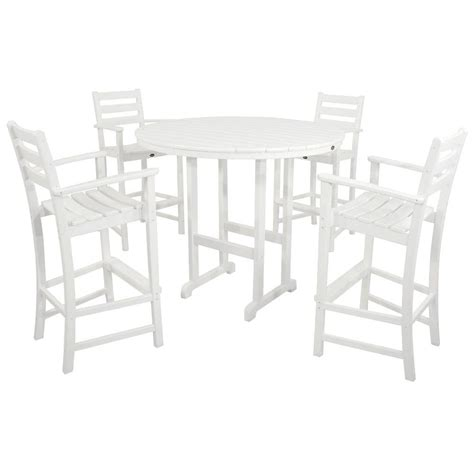 cheap bar height patio furniture bar height dining sets outdoor furniture the home depot