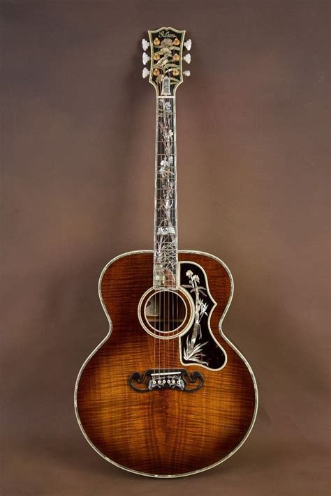 Guitar Gitar gibson sj 200 koa master museum custom acoustic guitar j
