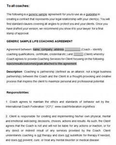 Free Coaching Templates by Doc 500647 Coaching Contract Template Coaching