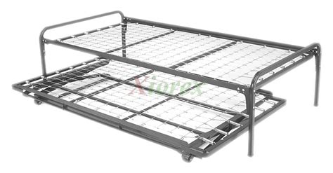 metal trundle bed free standing link deck top spring w link deck pop up trundle xiorex