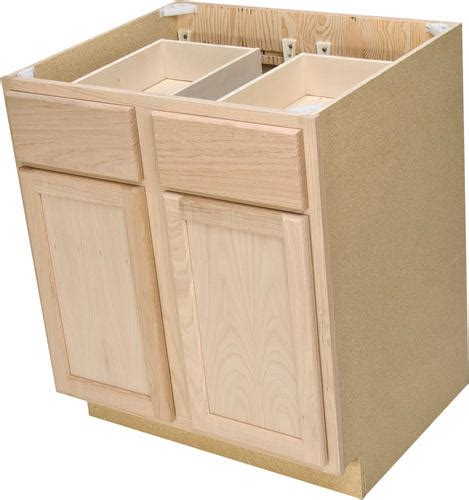 Unfinished Base Cabinets With Drawers by Quality One 30 Quot X 34 1 2 Quot Unfinished Oak Base