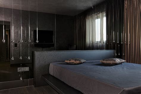 highly modern and stylish interior in dark grey brown colour