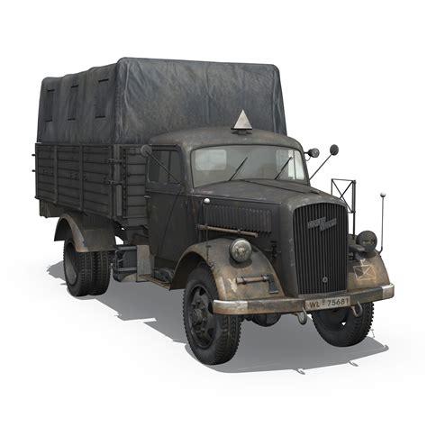 Opel Blitz Truck by Opel Blitz 3t Cargo Truck 17 Pzdiv 3d Model Buy Opel