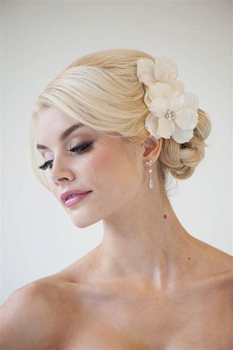 flower wedding hair clip bridal flower hair wedding hair accessory fascinator