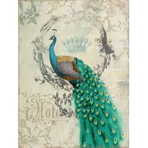 yosemite home decor peacock poise ii wall 24w x 35h