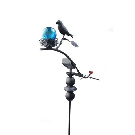 moonrays solar lights moonrays solar powered garden bird led stake light