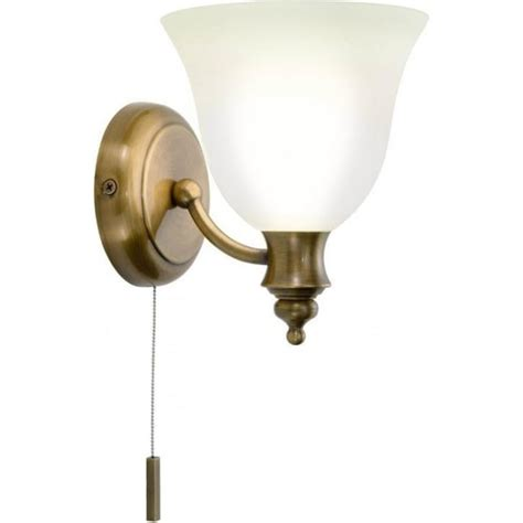 Bathroom Wall Light Fittings Traditional Antique Brass Period Wall Light With Pull Switch