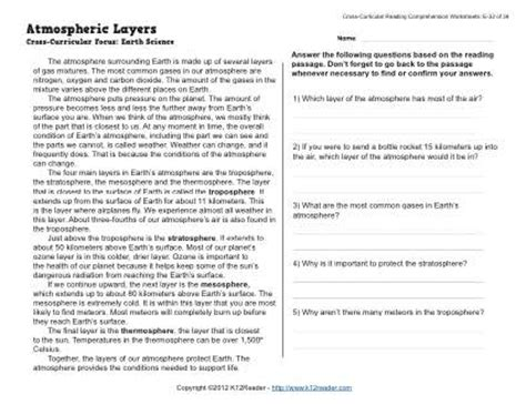 Atmosphere Layers Worksheet by Pics For Gt Layers Of The Atmosphere For Worksheet