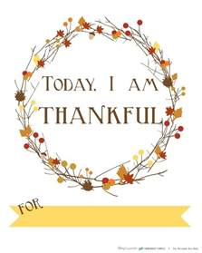 thankful template free printable today i am thankful for