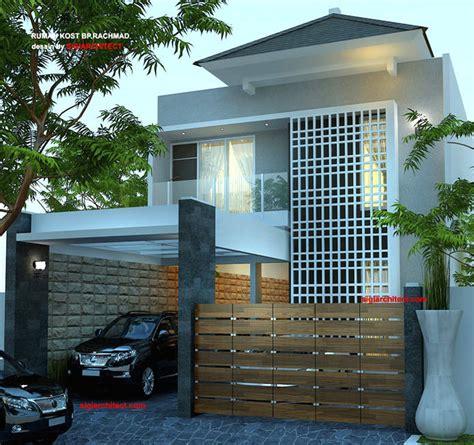 desain rumah kost  lantai minimalis