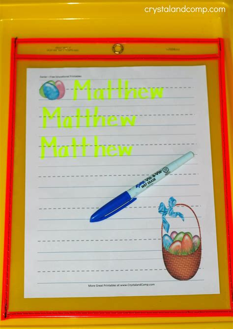 easter themed names name practice for preschoolers easter printable
