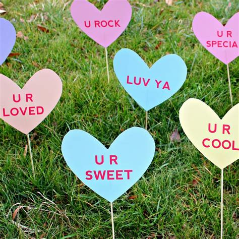 Lentines Day Heart Lawn Signs From The Dating