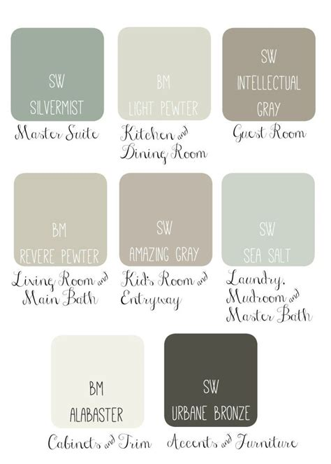 whole house color palette color combinations favorite paint colors