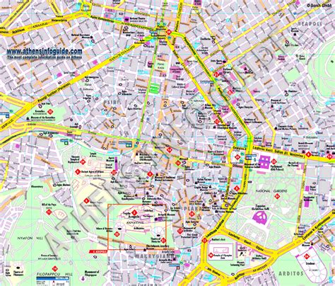 athens map athens guide map athens mappery